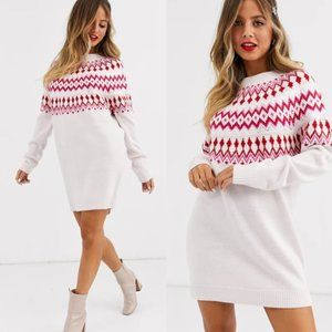 NWT ASOS Embellished Christmas Sweater Dress